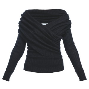 B094 wool sweater. Black. (1)