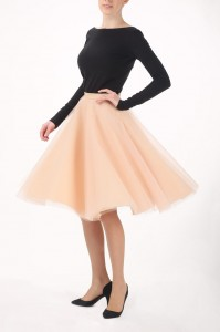 Champagne tutu circle skirt S066 - made to order!