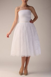 White lace and tulle skirt S031 long.