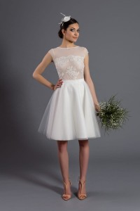 Circle tulle skirt S066. Ecru.