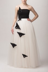 maxi tulle skirt - made to order. Ecru