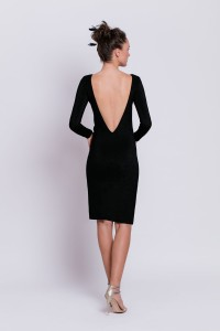 D083 dress with exposed back. short version (1)