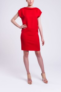 D085 loose dress. Red (1)