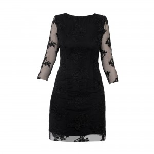 D105 little black lace dress (1)