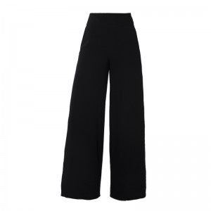H039 Black elegant high waisted trousers  (1)