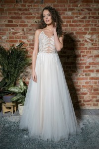 "Tulle wedding gown  W012 ""Eweline"""