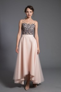 S097w champagne maxi skirt, with pockets