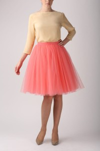 Tulle skirt  S031. Coral
