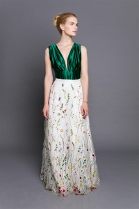 Floral maxi tulle skirt S102