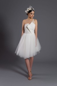 D076 tulle dress. Ecru.