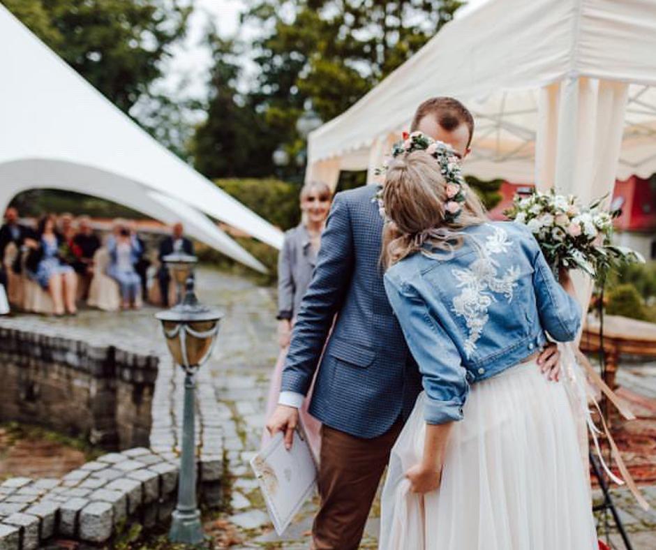 Brautkleid für jeans jacke Braut Oberteile